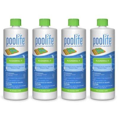 Poolife AlgaeKill II Swimming Pool Algaecide 62070 - 4 Pack