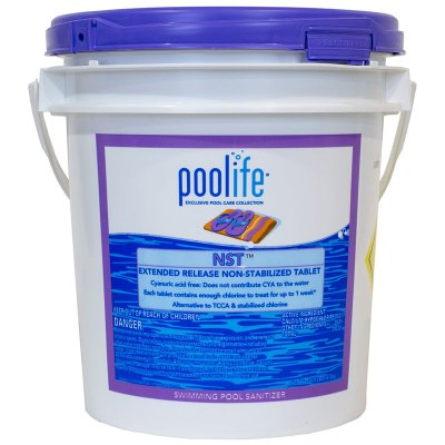 Poolife NST Non Stabilized Swimming Pool Chlorine Tablet 20.6lb 22421