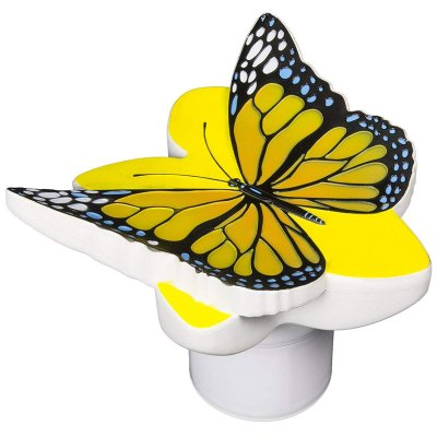 PoolMaster Yellow Butterfly 3 in. Pool Chlorine Tablet Feeder 32128