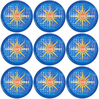 Solar Sun Rings Sunburst Water Anchors 5ft. OD SSRA-SB-02 - 12 Pack