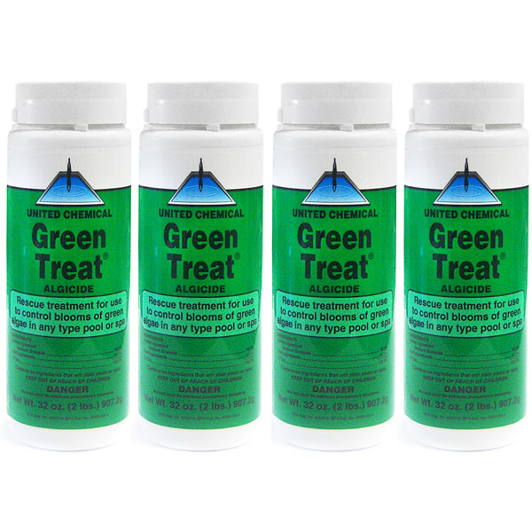United Cemical Algaecide Green Treat GT-C12 - 4 Pack