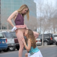 FTVGirls: Anna & Amber: Kissing and Pussy Licking In Parking Lot