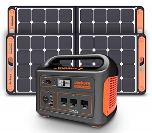 Jackery Explorer 1000 with SolarSaga Chargers