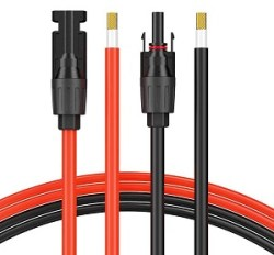 SOLAR EXTENSION CABLE WITH EXTRA FREE CONNECTORS