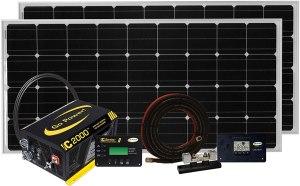Go Power Elite 360W Solar Panel Kit