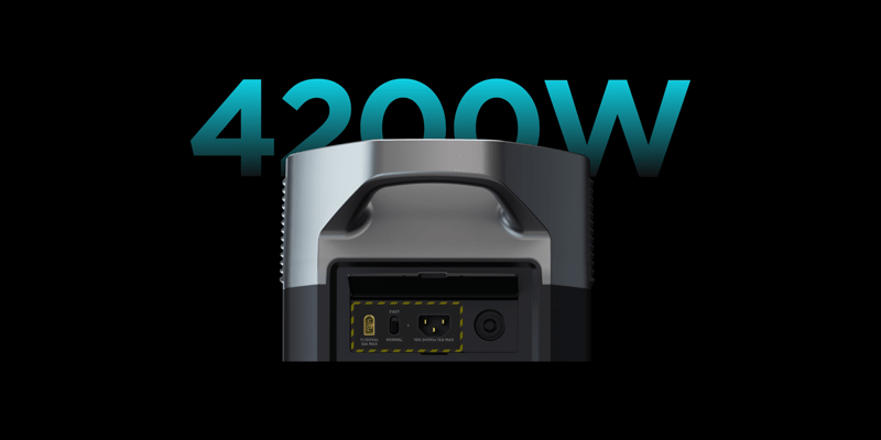 EcoFlow Delta Pro with 4200W solar charging
