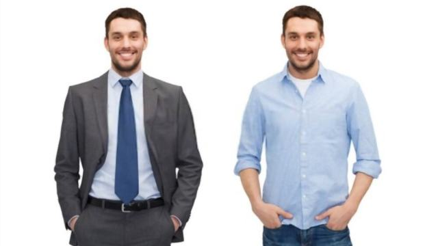 Business casual clothing for men
