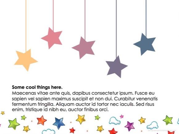 Twinkling Stars Powerpoint Template Free