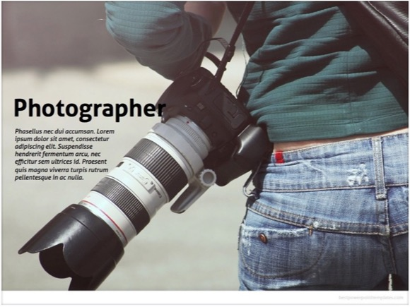 photographer powerpoint template - free!, Modern powerpoint