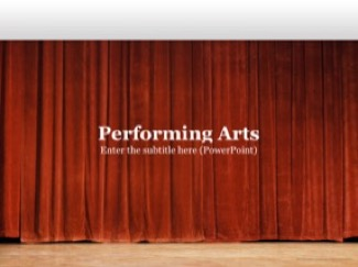 Performing Arts Keynote Template