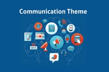 Social Communication PowerPoint Template - FREE