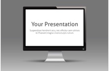 Monitor Screen PowerPoint Template