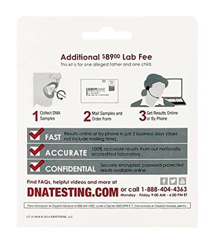 51o9ZW6Qs1L - IDENTIGENE DNA Paternity Test Collection Kit