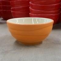 ชามลายคลื่น 4.5″ สีส้ม