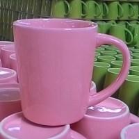 แก้วกาแฟ 250 cc.สีชมพู