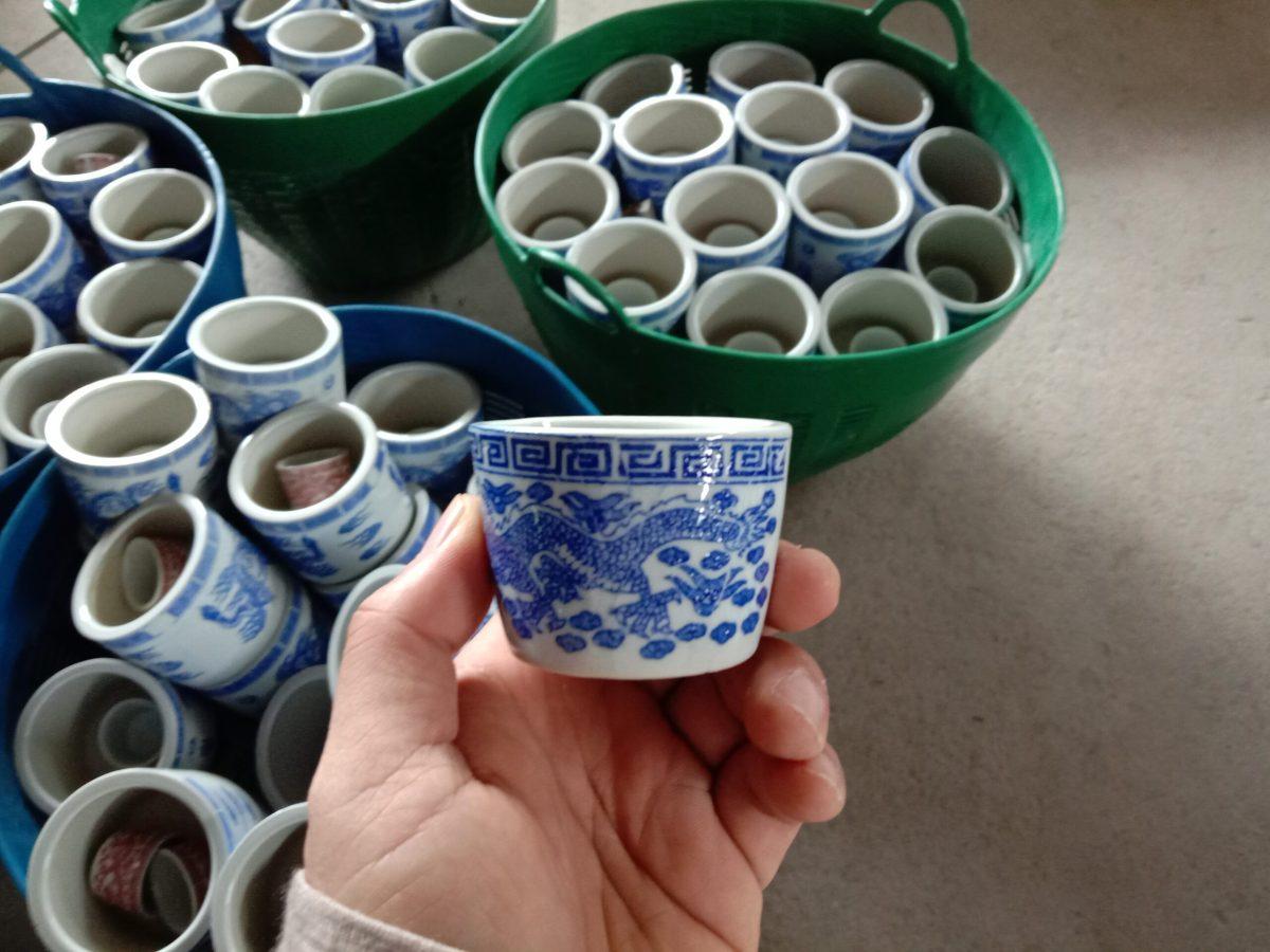 ถ้วยชามังกร-เคลือบสี 2 นิ้ว