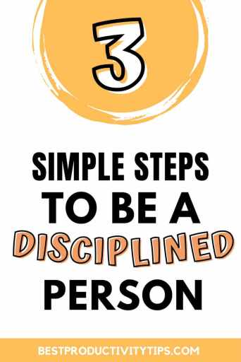 Find out 3 simple ways to become a discipline person. Discipline is necessary to remain consitent on your goals, and achieve them.