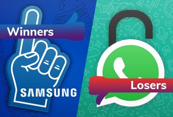 Samsung drops a surprise while Whatsapp delivers an ultimatum