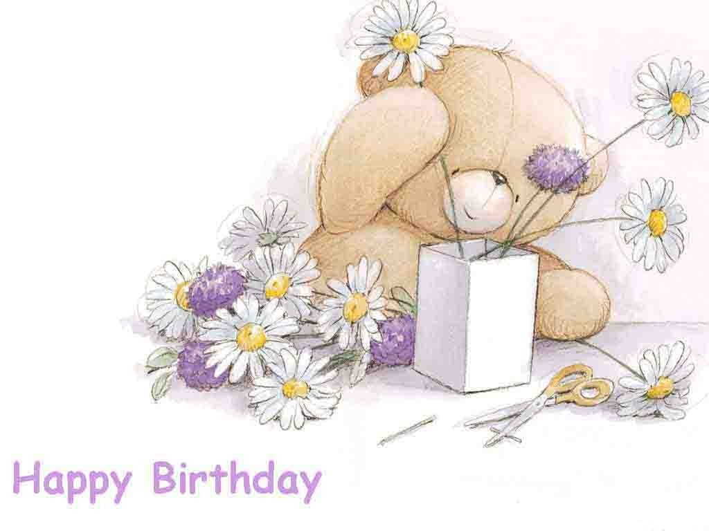 happy bithday with teddy bear facebook profile pictures