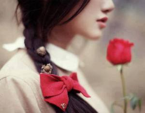 Innocent girls facebook profile pictures with beautifull rose