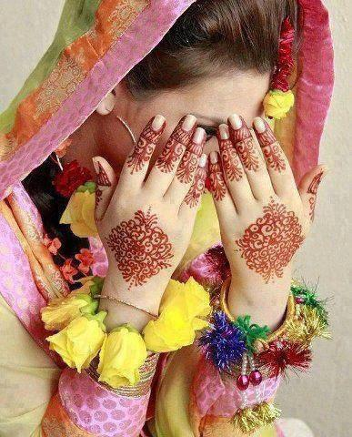 latest mahandi designing girls facebook display pictures