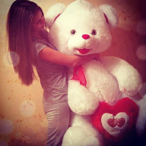 Teddy Bear With Girls Cool Facebook Display Pictures And