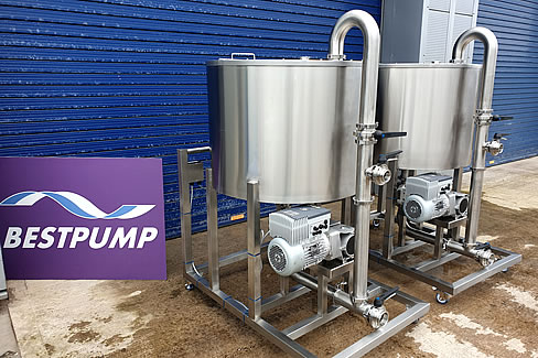 Fabricate stainless steel tanks pumps