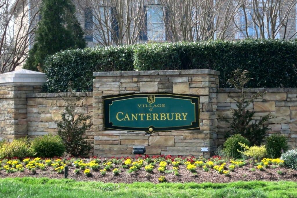 Village of Canterbury Entrance, Brier Creek