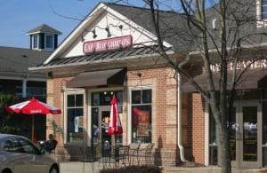 Cafe Buongiorno's. Shoppes at Bedford, Facing the Central Town Commons, Best Raleigh Neighborhoods, North Raleigh, Bedford