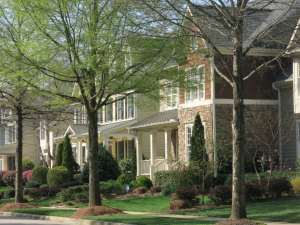 Houses Along Falls River Ave East Side of Bedford, Best Raleigh Neighborhoods, North Raleigh, Bedford