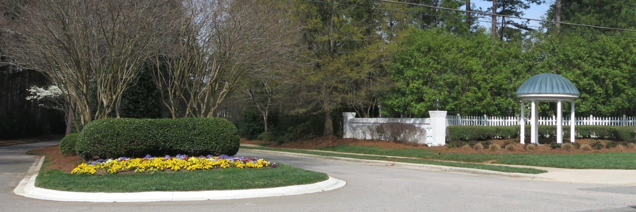 Bent Tree Entrance from Strickland Road, Best Raleigh Neighborhoods, Midtown, Bent Tree
