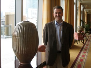 Ben Owen III is a Seagrove Potter shown here in Tokyo