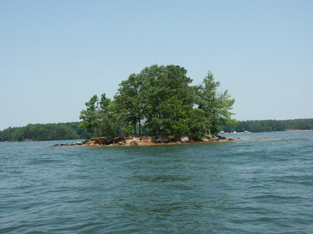 One of over 100 islands on  Lake Norman