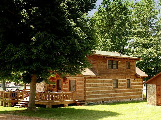 Lake Norman waterfront log cabin