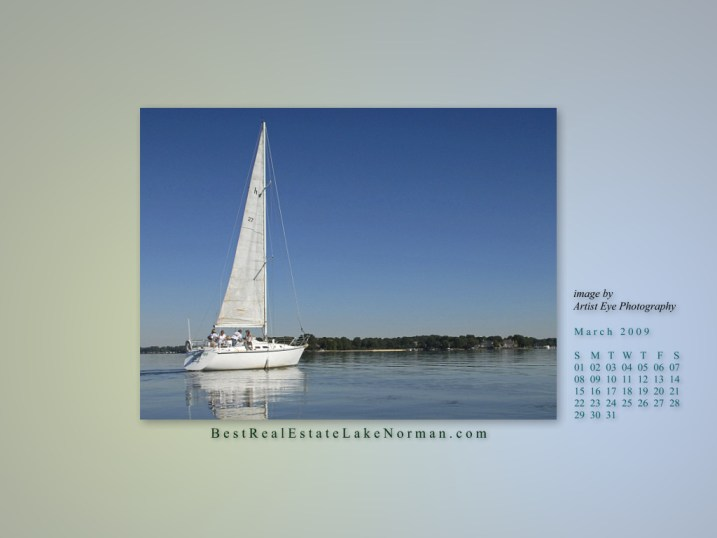 Lake Norman Sailboat Photograph
