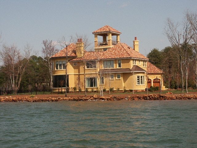 Lake Norman waterfront estate in The Point