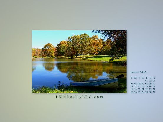 Lake Norman Real Estate's Oct 09 WallpaperCalendar