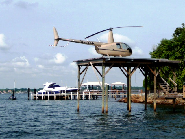 Helicoper on Lake Norman