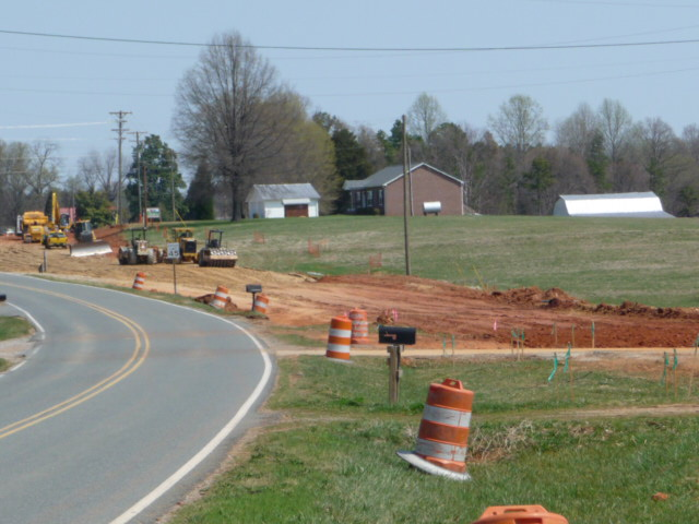 Lake Norman construction on Brawley School Road