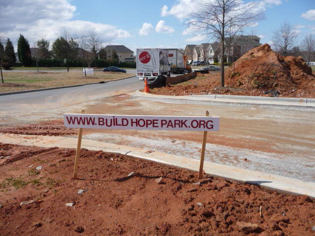 Entrance to Hope Park Under Constuction