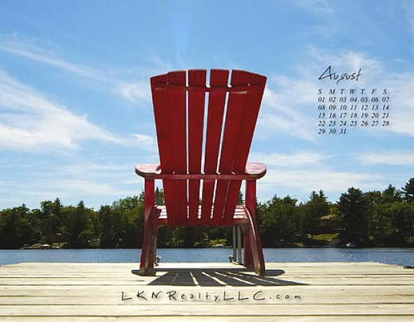 Lake Norman Real Estate's August 2010 Calendar