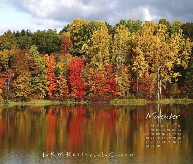 Fall colors on Lake Norman calendar