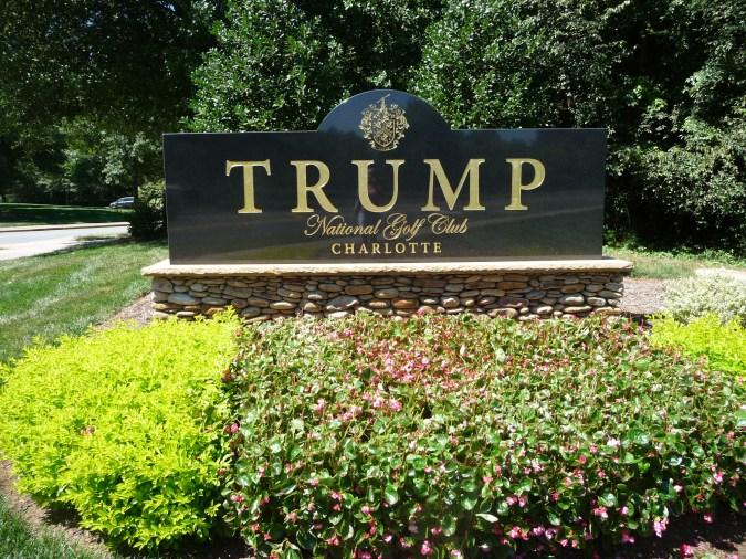 Lake Norman's Trump National Golf Club Sign