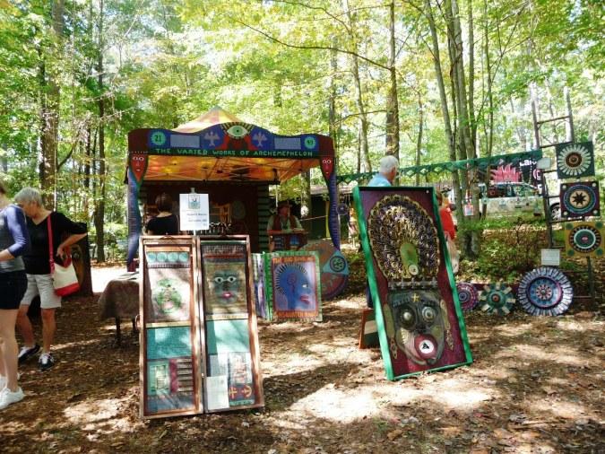 Artist Booth at Lake Norman Folk Art Festival