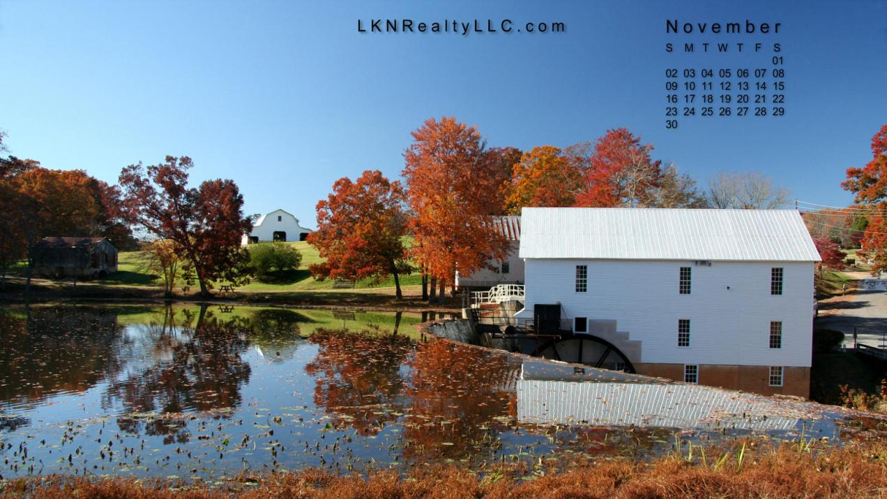 Lake Norman Real Estate's November 2014 Desktop Calendar