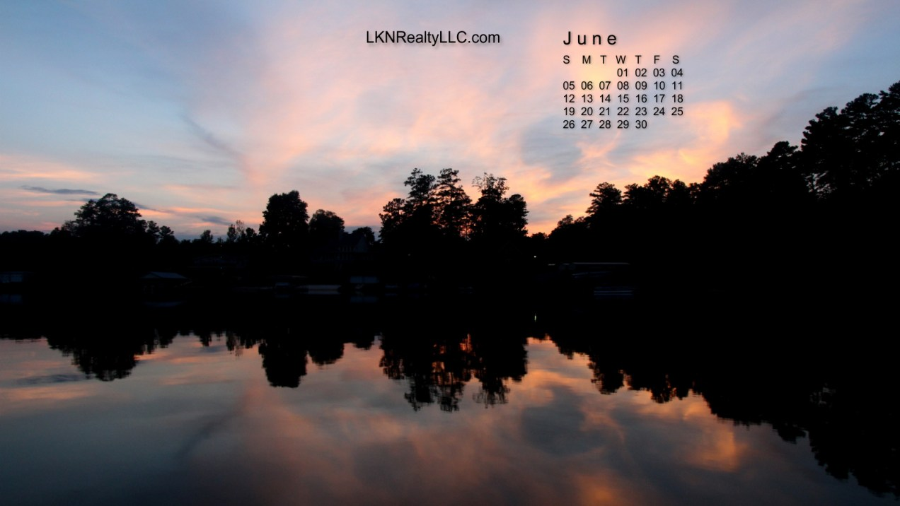 Stunning Lake Norman Sunset Calendar