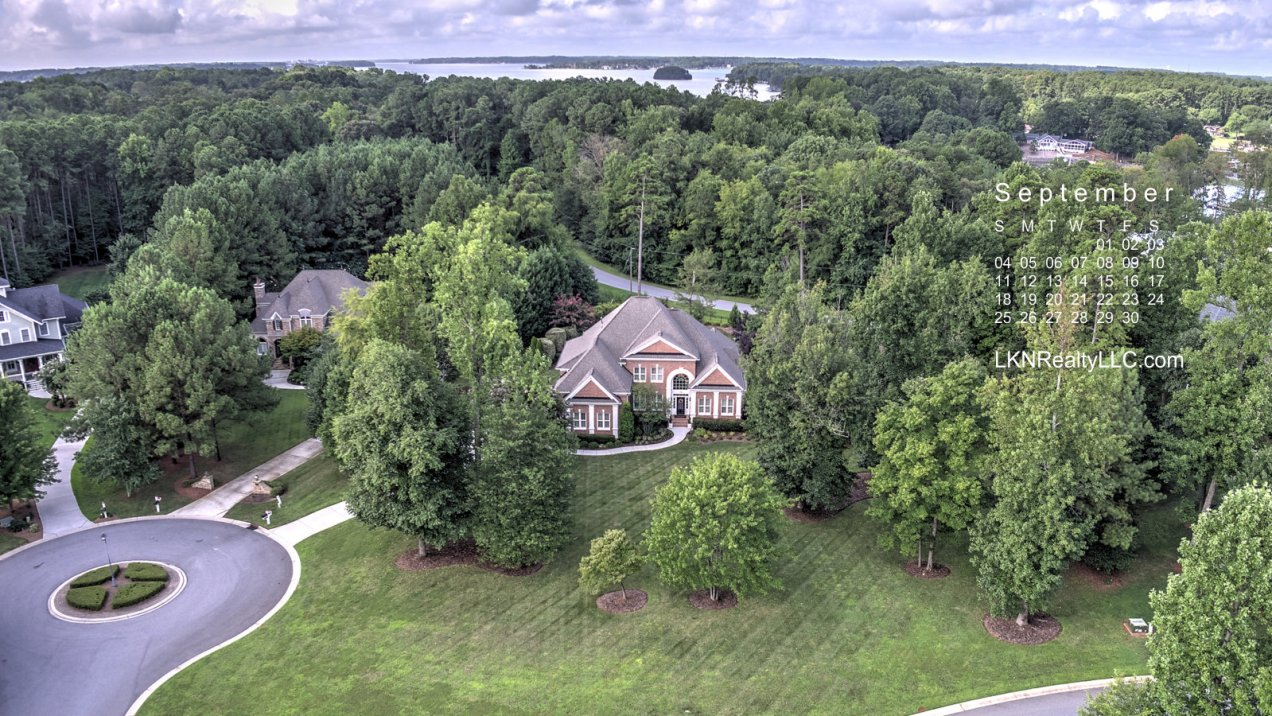 Aerial View of Lake Norman home