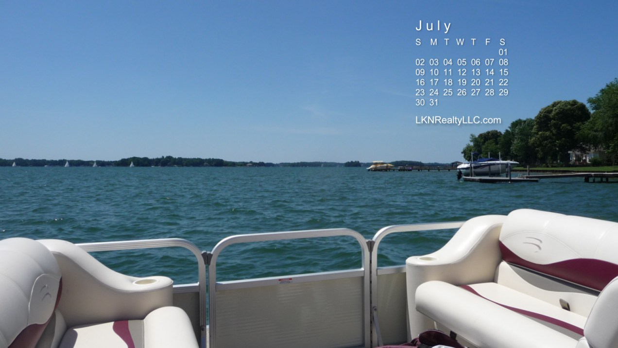 Lake Norman Calendar July 2017