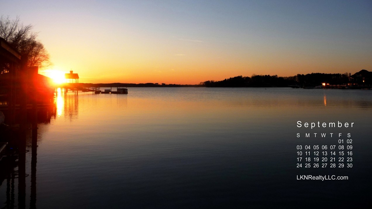 Gorgeous Lake Norman Sunset is Lake Norman's Calendar for September