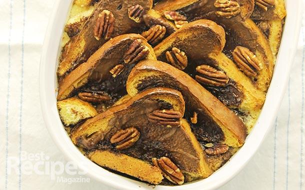 Chocolate Hazelnut Bread Pudding